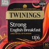 Twinings 1706 English Strong Breakfast 80 Teebeutel (250g)
