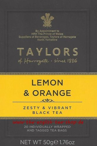 Taylors of Harrogate Lemon & Orange Tea 20 Teebeutel (50g)