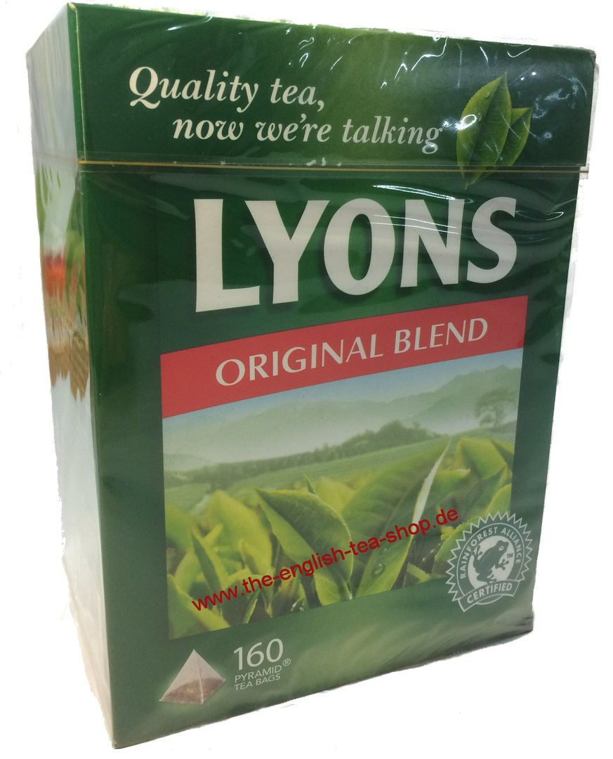 Lyons Tea Original Blend 160 Tea Bags The English Tea Shop
