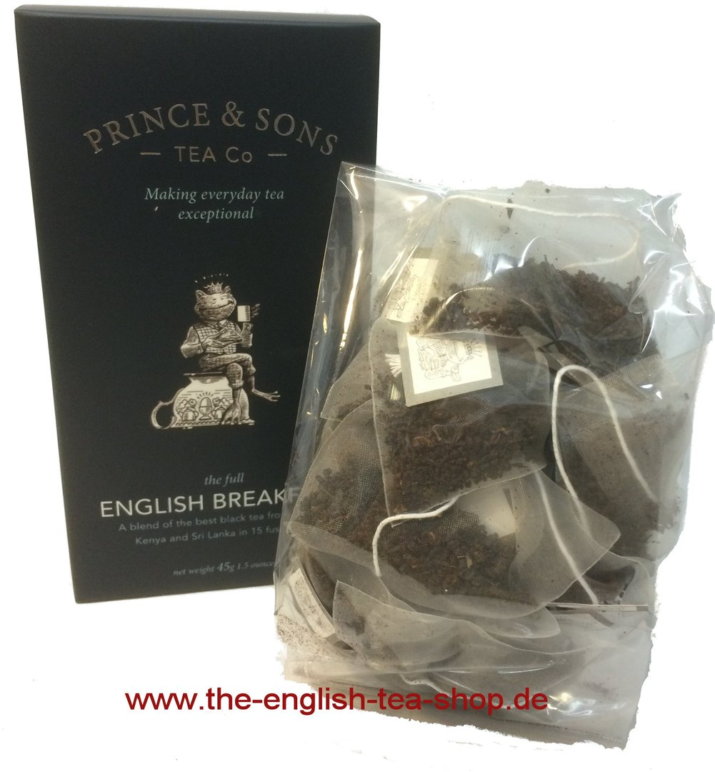 Prince Amp Sons English Breakfast Tea 15 Pyramidenbeutel