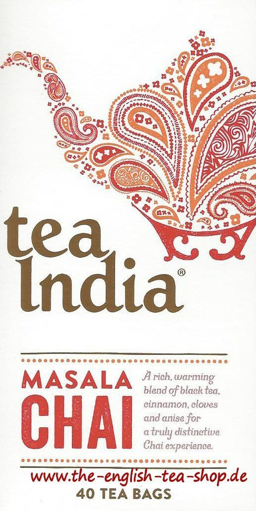 Tea India Masala Chai 40 Tea Bags The English Tea Shop