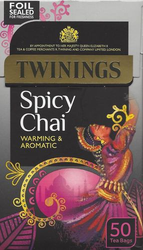 Twinings Spicy Chai 50 Tea Bags (125g)
