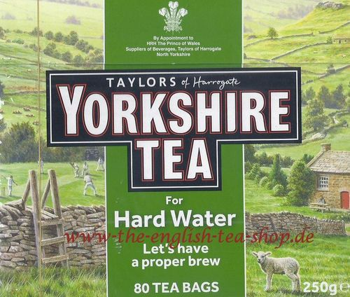 Taylors of Harrogate Yorkshire Tea for Hard Water 80 Tea Bags (250g) - Special Offer